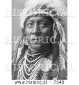 December 13th, 2013: Historical Photo of Crow Indian Called Old White Man 1908 - Black and White by Al