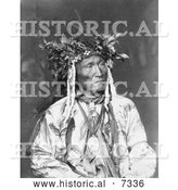Historical Photo of Crow Indian Chief 1906 - Black and White by Al