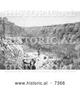 December 13th, 2013: Historical Photo of Crow Indian Looking over Black Canyon 1905 - Black and White by Al