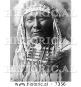 December 13th, 2013: Historical Photo of Crow Indian Man by the Name of Ghost Bear 1908 - Black and White by Al