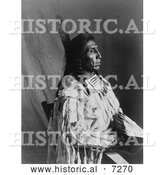 Historical Photo of Crow Indian Man by the Name of Medicine Crow 1904 - Black and White by Al