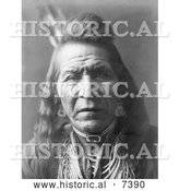 December 13th, 2013: Historical Photo of Crow Indian Man by the Name of Two Leggings 1908 - Black and White by Al