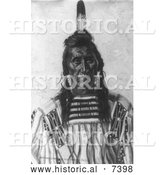December 13th, 2013: Historical Photo of Crow Indian Man Called Chief Pretty Eagle 1897 - Black and White by Al