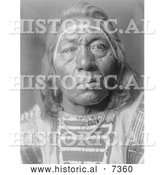 December 13th, 2013: Historical Photo of Crow Indian Man Called Leads the Wolf 1908 - Black and White by Al