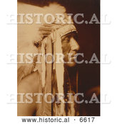 Historical Photo of Crow Indian Man, Pretty Paint 1905 - Sepia by Al
