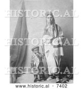 December 13th, 2013: Historical Photo of Crow Indian Mother and Child 1908 - Black and White by Al