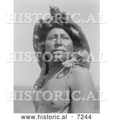Historical Photo of Crow Indian, the Eagle Medicine-Man 1908 - Black and White by Al