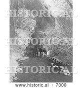 December 13th, 2013: Historical Photo of Crow Indians on Horseback 1908 - Black and White by Al