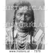 December 13th, 2013: Historical Photo of Crow Native American Called Strike on His Head 1908 - Black and White by Al