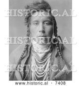 December 13th, 2013: Historical Photo of Crow Native American Man, Bird on High Land 1908 - Black and White by Al