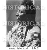 December 13th, 2013: Historical Photo of Crow Native American Man Called Plenty Coups 1908 - Black and White by Al