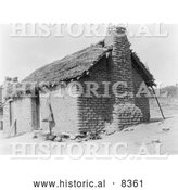 Historical Photo of Cupeno House 1924 - Black and White by Al
