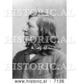 December 13th, 2013: Historical Photo of Dakota Indian Chief, Luther Standing Bear 1891 - Black and White by Al