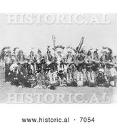 Historical Photo of Dakota Indians at Pine Ridge 1910 - Black and White by Al
