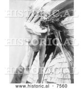 Historical Photo of Daughter of Bad Horse, Cheyenne Native 1905 - Black and White by Al
