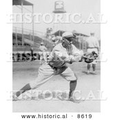 Historical Photo of Del Pratt, a St Louis Browns Player, Catching a Baseball in 1913 - Black and White Version by Al