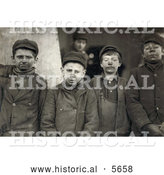 Historical Photo of Dirty Breaker Boys Working the Coal Mines in 1911 by Al