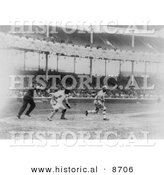 Historical Photo of Eddie Murphy Batting for the Philadelphia Pirates Baseball Team, 1914 - Black and White Version by Al