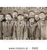 Historical Photo of Exhausted and Dirty Coal Miner Boys Posing for a Portrait in 1911 by Al