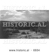 December 13th, 2013: Historical Photo of Feast Day, Acoma Indians 1905 - Black and White by Al