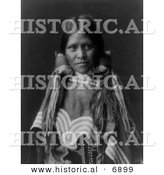 Historical Photo of Female Jicarilla Child - Native American Indian - Black and White Version by Al