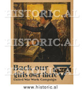 Historical Photo of Female Telephone Operator - Vintage Military War Poster 1918 by Al