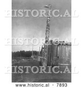 Historical Photo of Fort Rupert 1914 - Black and White by Al