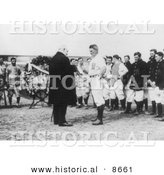 Historical Photo of Frank Farrell, Yankee President, Making a Presentation to Harry Wolverton, 1912 - Black and White Version by Al