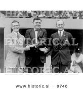 Historical Photo of George Sisler, Babe Ruth, Ty Cobb Posing for the Camera in 1924 - Black and White Version by Al