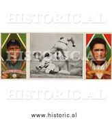 December 28th, 2013: Historical Photo of George Stovall and James Austin - St. Louis Browns - Vintage Baseball Card by Al