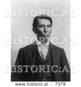 December 13th, 2013: Historical Photo of Gov Bigheart, an Osange Indian 1906 - Black and White by Al