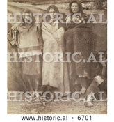 Historical Photo of Group of Colville Indians 1860 - Sepia by Al