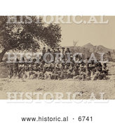 Historical Photo of Group of Pah-ute Indians 1875 - Sepia by Al