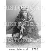 Historical Photo of Hamatsa Costume 1910 - Black and White by Al