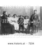 Historical Photo of Hampton Indian Students 1900 - Black and White by Al
