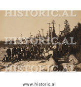 Historical Photo of Harriman Alaska Expedition 1899 - Sepia by Al