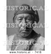 December 13th, 2013: Historical Photo of Hidatsa Indian Man Called Sitting Owl 1908 - Black and White by Al