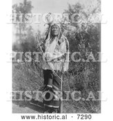 December 13th, 2013: Historical Photo of Hidatsa Indian Named Long Time Dog 1908 - Black and White by Al