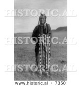 December 13th, 2013: Historical Photo of Hidatsa Native Man Wrapped in a Blanket 1908 - Black and White by Al