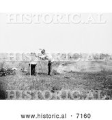 December 13th, 2013: Historical Photo of High Bear, Sioux Indian, Cooking 1911 - Black and White by Al