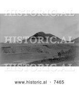 Historical Photo of Hill and Valley in North Dakota, Former Locatio 1908 - Black and White by Al