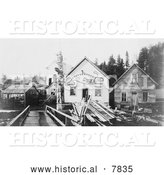 Historical Photo of Home of Chief Ko-Teth Sha-Doc 1906 - Black and White by Al