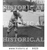 Historical Photo of Honus Wagner of the Pittsburgh Pirates Swinging a Baseball Bat 1913 - Black and White Version by Al