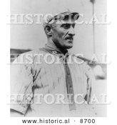 Historical Photo of Honus Wagner, Pittsburgh Pirates Baseball Shortstop, 1913 - Black and White Version by Al