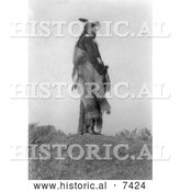 December 13th, 2013: Historical Photo of Hoop on the Forehead, an Apsaroke Indian 1908 - Black and White by Al