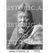 December 13th, 2013: Historical Photo of Hoop on the Forehead, Crow Indian Man 1908 - Black and White by Al