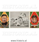 December 28th, 2013: Historical Photo of Hughie Jennings and Ty Cobb - Vintage Baseball Card by Al