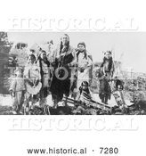 Historical Photo of Hunting Horse and Daughters, Kiowa Indians 1908 - Black and White by Al