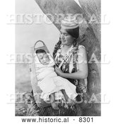 Historical Photo of Hupa Mother 1923 - Black and White Version by Al