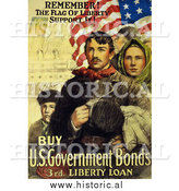 Historical Photo of Immigrants and American Flag - Vintage Military War Poster 1918 by Al
